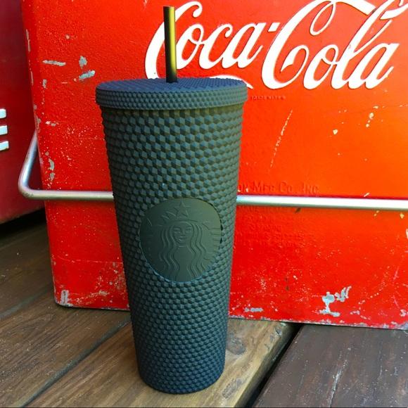 NWT Starbucks Matte Black Studded 24 OZ Venti Cup